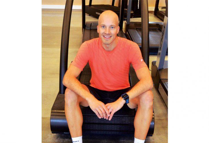 FØR TESTEN: Jens Ole Sætha like før løpstesten settes i gang.