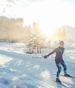 Langrenn på solsiden av Zugspitze