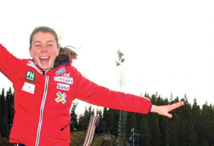 HOPPENDE GLAD: I tillegg til å være del av tidenes første norske kombinertlandslag for kvinner, er Mari Leinan Lund også utøverrepresentant i det internasjonale skiforbundet, FIS.