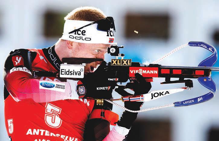 GULLGUTT: Johannes Thingnes Bø hentet hjem to gull og tre bronse under VM.