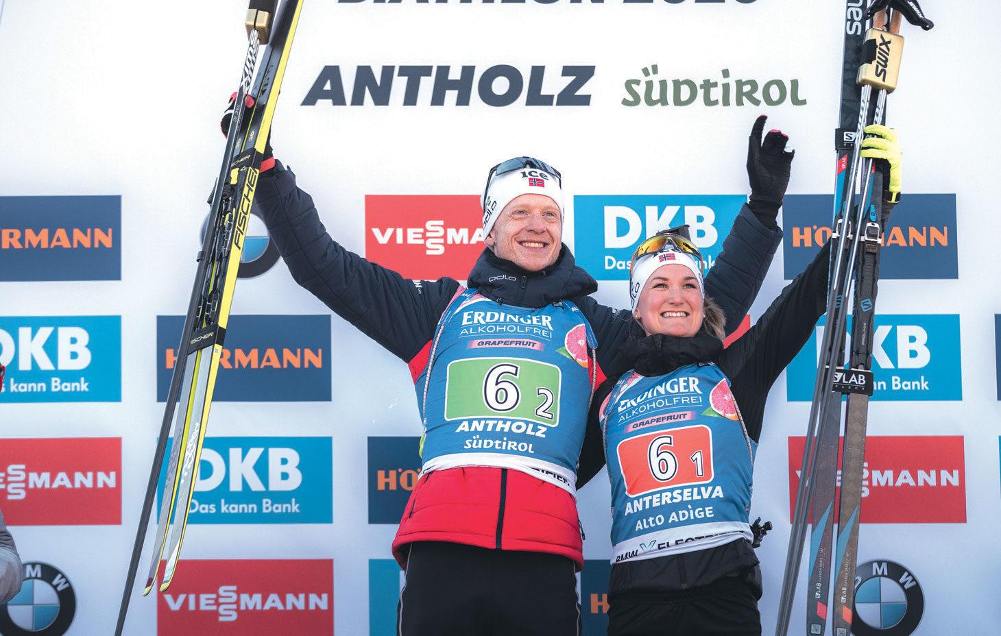 11 MEDALJER: VM ble en stor suksess sett med norske øyne. Foto: Sondre Hensema Eriksen/Norges Skiskytterforbund