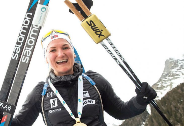 VM-DRONNING: Marte Olsbu Røiseland ble årets VM-dronning i Anterselva.