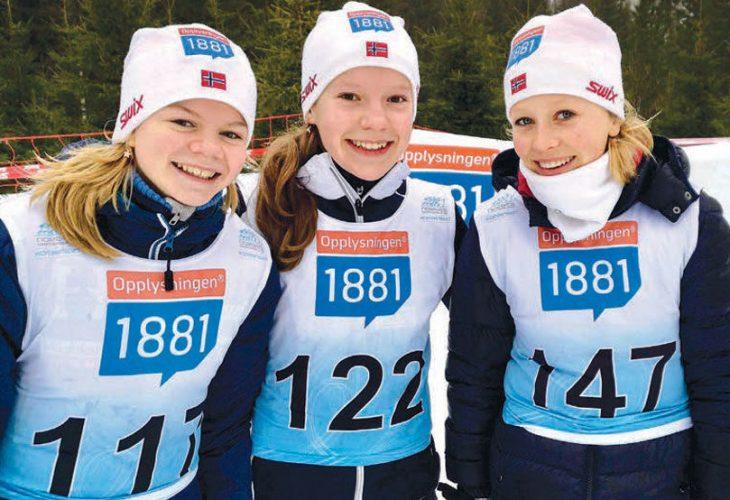 GLADE HOPPJENTER: Camp 1881 er et rekrutteringsprosjekt for kombinert. Neste år skal jentene for første gang være med i VM i Oberstdorf.