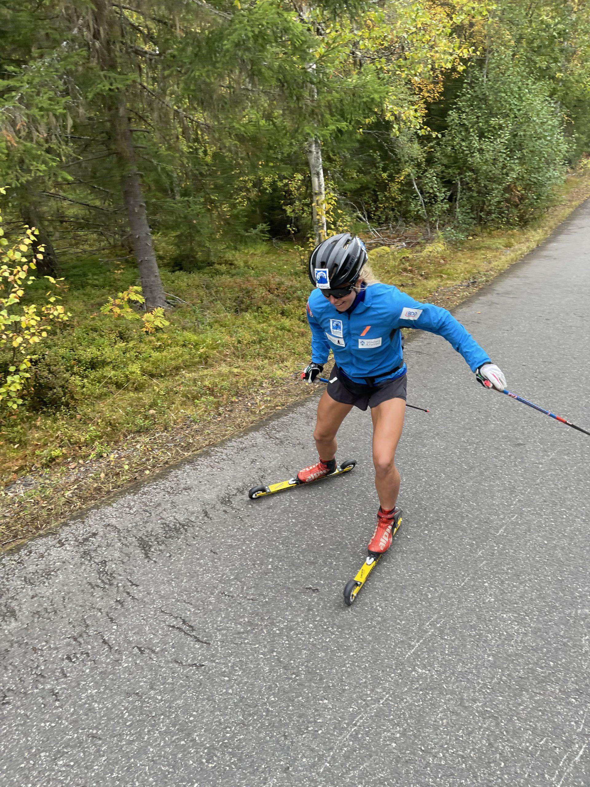 Langløper på NM i rulleskiskyting